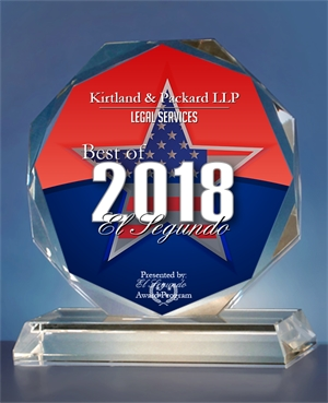 Best Legal Services in El Segundo | Award for Kirtland & Packard