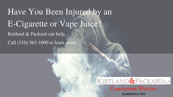 E-Cig Product Liability Attorney | South Bay, CA