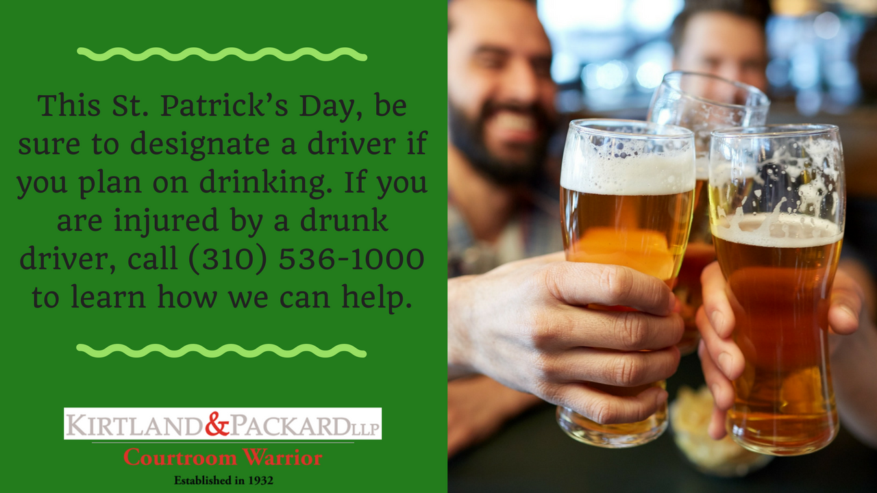 St. Patricks Day Car Accident Lawyer | Redondo Beach