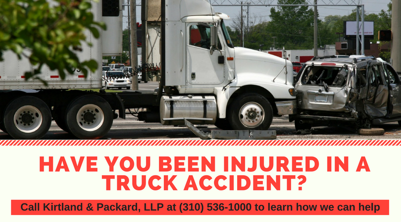If you have been injured in a truck accident in Los Angeles, Long Beach or surrounding areas, call 310-536-1000 for a free consultation at Kirtland & Packard, LLP.