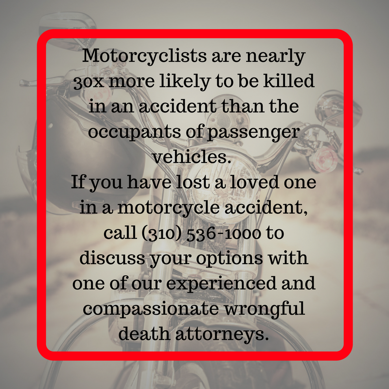 Have you lost a loved one in a motorcycle accident in California? Call the wrongful death attorneys at Kirtland & Packard, 310-536-1000, to learn how we can help.