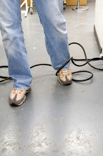 Slip and fall caused by power cords